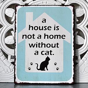 Plåtskylt A house