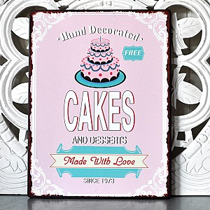 Tin Sign Cakes and desserts