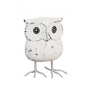 Wooden Owl with metal legs
