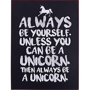 Plåtskylt Unicorn