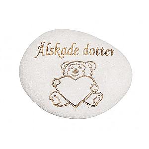 Stone Teddy Bear Älskade dotter