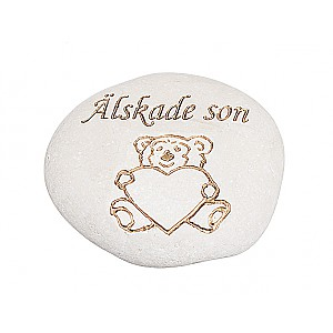 Stone Teddy Bear Älskade son
