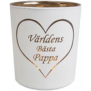 Candle Holder Världens bästa pappa