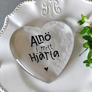 Glashjärta Alnö i mitt Hjärta - Stor