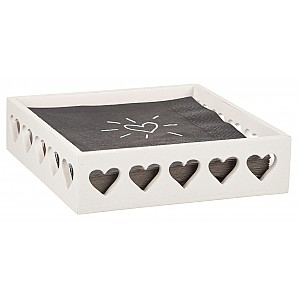 Wooden Box / Napkin Holder Heart