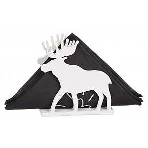 Wooden Napkin Holder Moose