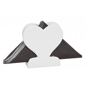 Wooden Napkin Holder Heart