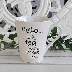 Tasse Hallo ist es Tee, den Sie suchen