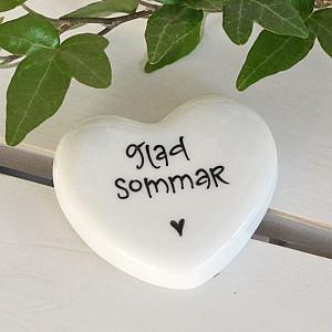 Porslinshjärta Glad Sommar