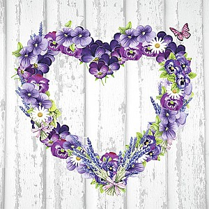 Servietten Purple Heart