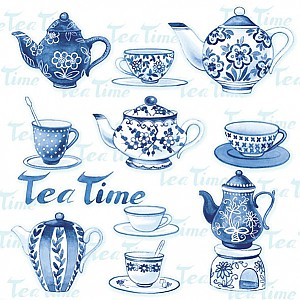 Servietten Tea Moments Blue