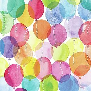 Servietten Aquarell Luftballons