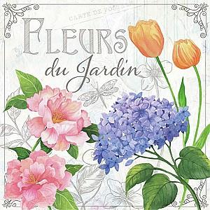 Servetter Fleurs De Jardin