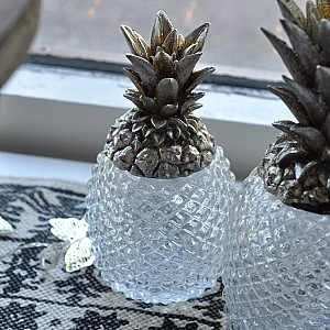 Pineapple in glass with lid
