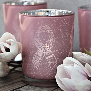 Majas Candle Holder Pink Ribbon