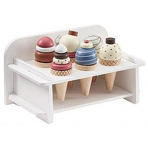 Kids Concept Ice Cream Rack and Ice Creams