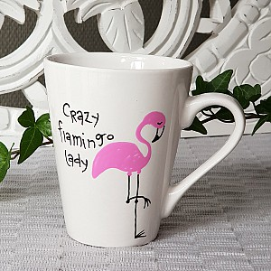 Mugg Crazy flamingo lady