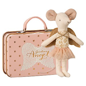 Maileg Mouse Guardian Angel in Suitcase
