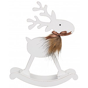 Swinging Wooden Reindeer
