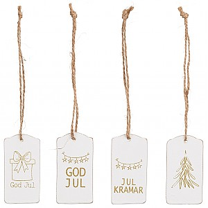 Wooden Gift Tag Christmas