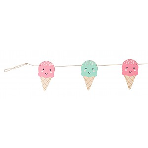 Happy Ice Cream Bunting