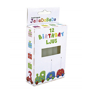 JaBaDaBaDo Candles for Birthday Train