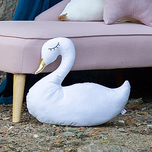 JaBaDaBaDo Swan Cushion