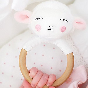 JaBaDaBaDo Rattle Ring Lamb