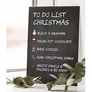 Plåtskylt To Do List Christmas