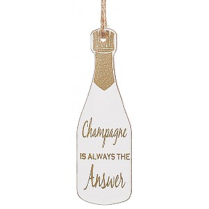Champagne Bottle Tag