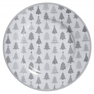 Happy Dessert Plate Christmas Trees