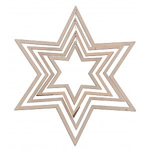 Wooden Decoration Star Åsle