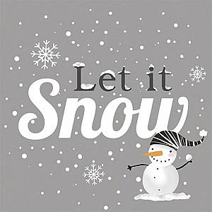 Servetter Snowball Snowman
