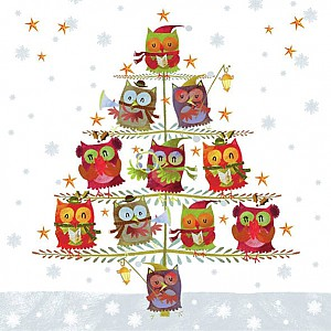 Napkins Tree with Owls
