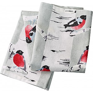 Tea Towel Bullfinch