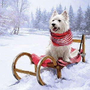 Servietten Westie Outdoor