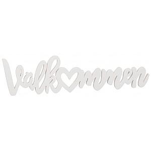 Wooden Word for wall Välkommen