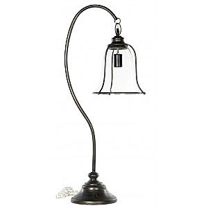 the best attitude 71ac7 c26cf Table Lamp with Glass Lampshade - Black