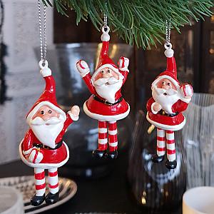 Hängender Weihnachtsmann - 3er Set