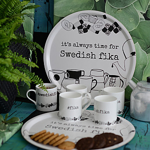 Bricka Swedish fika - 38 cm