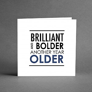 Card Brilliant and bolder