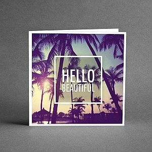 Card Hello beautiful