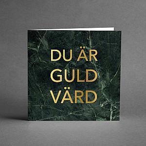 Card Du är guld värd