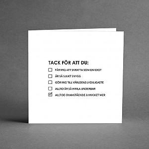 Card Tack för att du:
