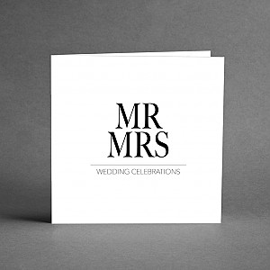 Card Mr & Mrs