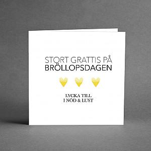 Card Bröllopsdagen