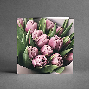 Card Purple Pink Tulips