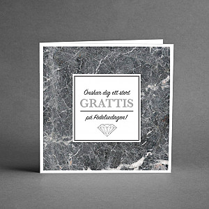 Card Grattis Silver and marble