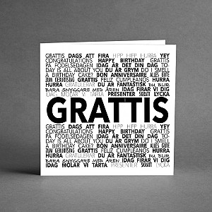 Card Grattis expressions