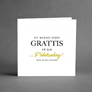 Card Ett mycket stort grattis